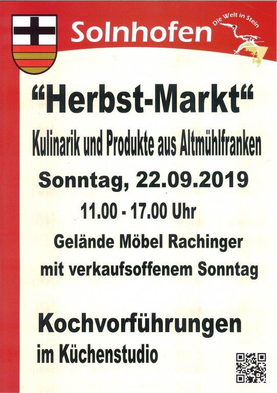 Herbstmarkt 2018 Gemeinde Solnhofen